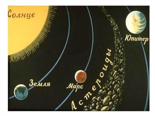 В Солнечной системе, между Марсом и Юпитером, есть пояс астероидов